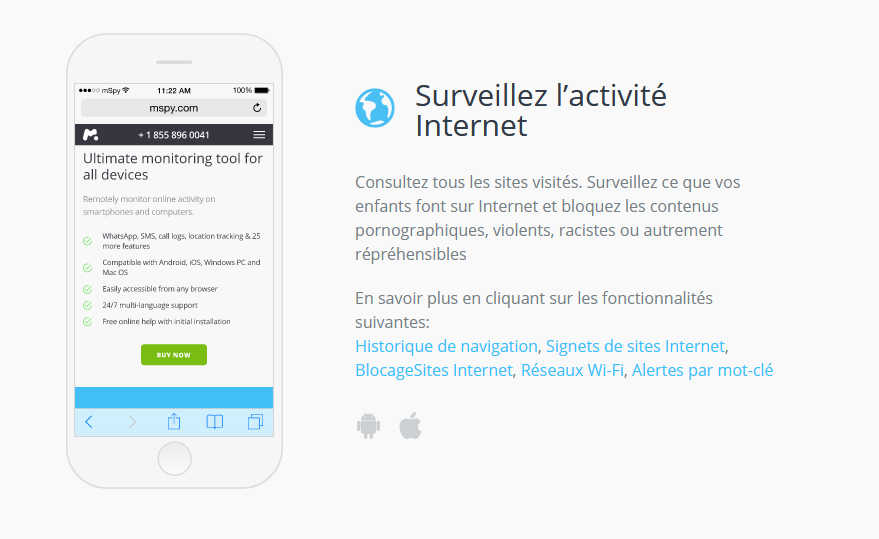 mspy android controle internet
